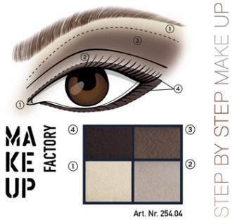 سایه چشم چهار رنگ مخملی میکاپ فکتوری – Make Up Factory Eye Shadow Colors