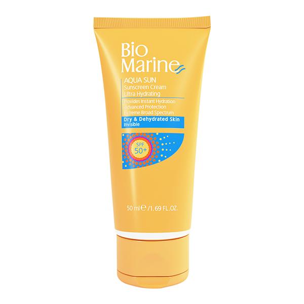کرم ضد آفتاب رطوبت رسان پوست خشک با SPF50 بایو مارین Bio Marine