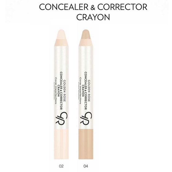کانسیلر و کارکتور مدادی کرایون گلدن رز CONCEALER + CORRECTOR CRAYON