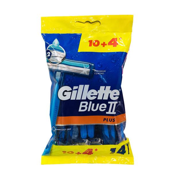 خود تراش ژیلت بلوتو پلاس 14 عددی – Blue II